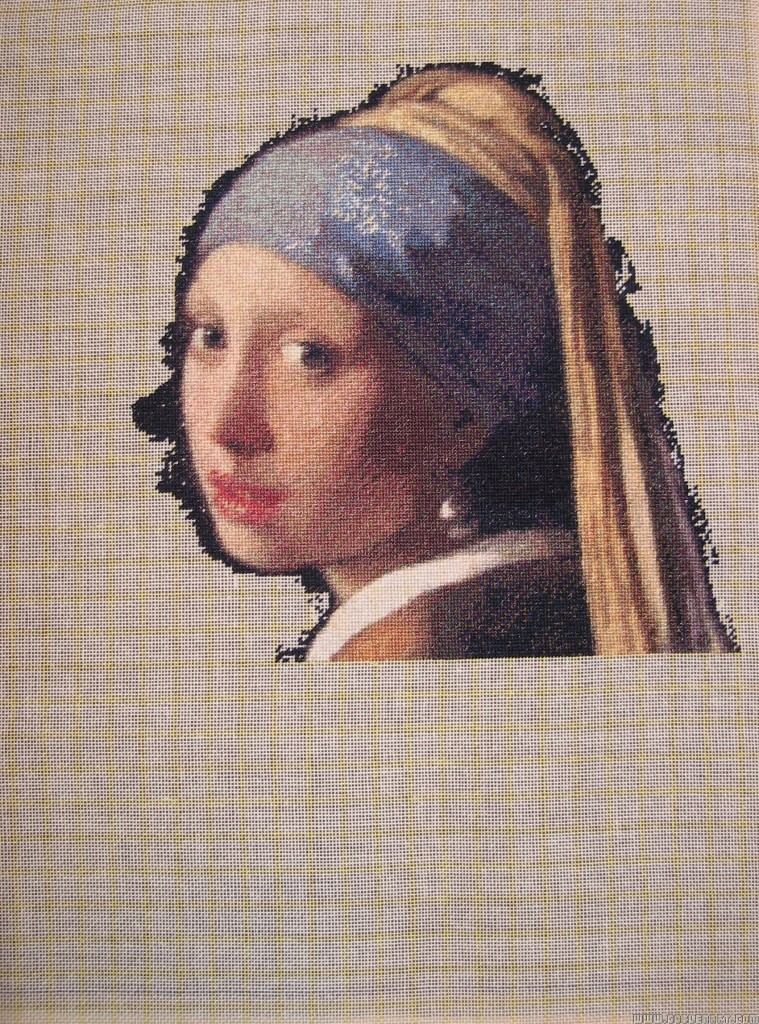 Girl with a pearl earring - sewing period