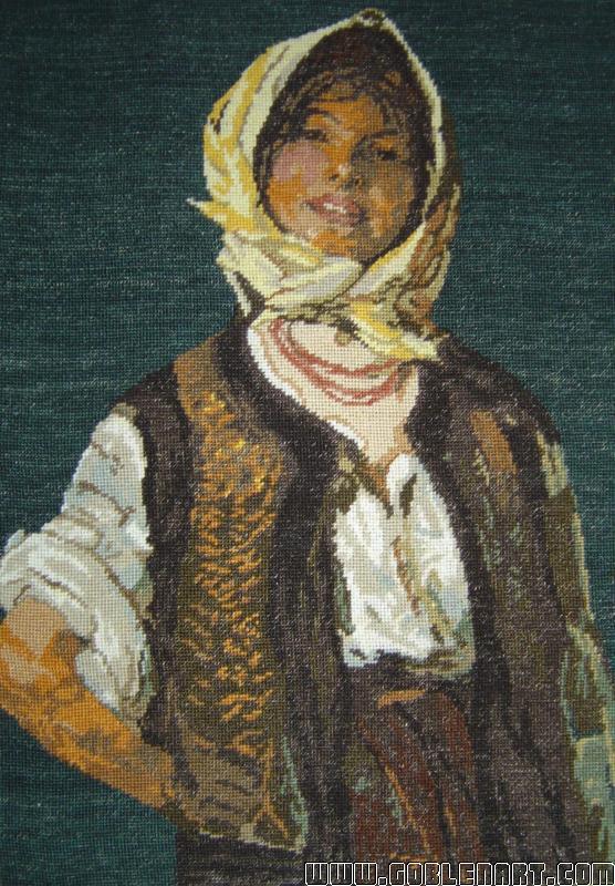 Happy peasant woman