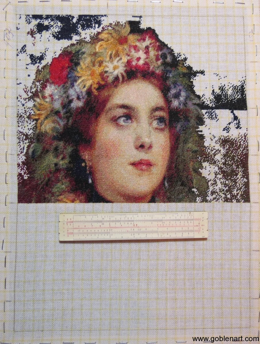 Russian beauty in summer garland - sewing period