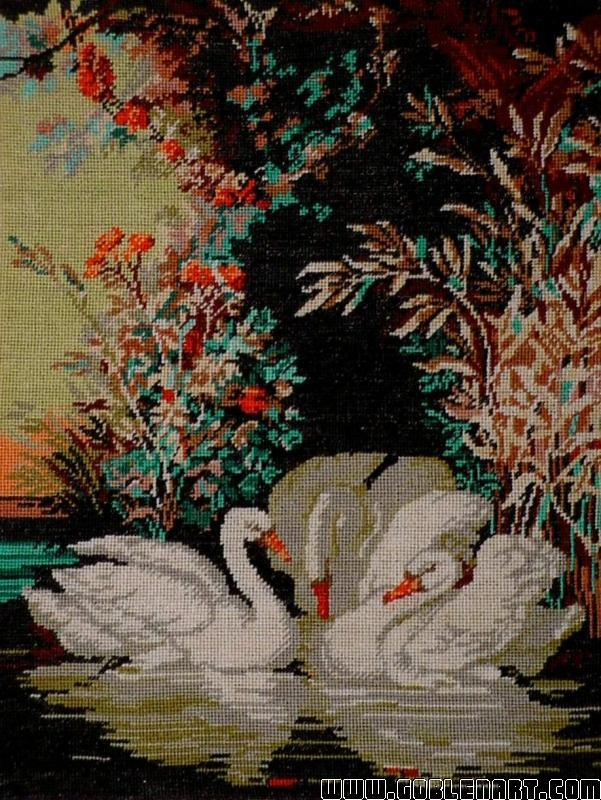 The idyll of the swans