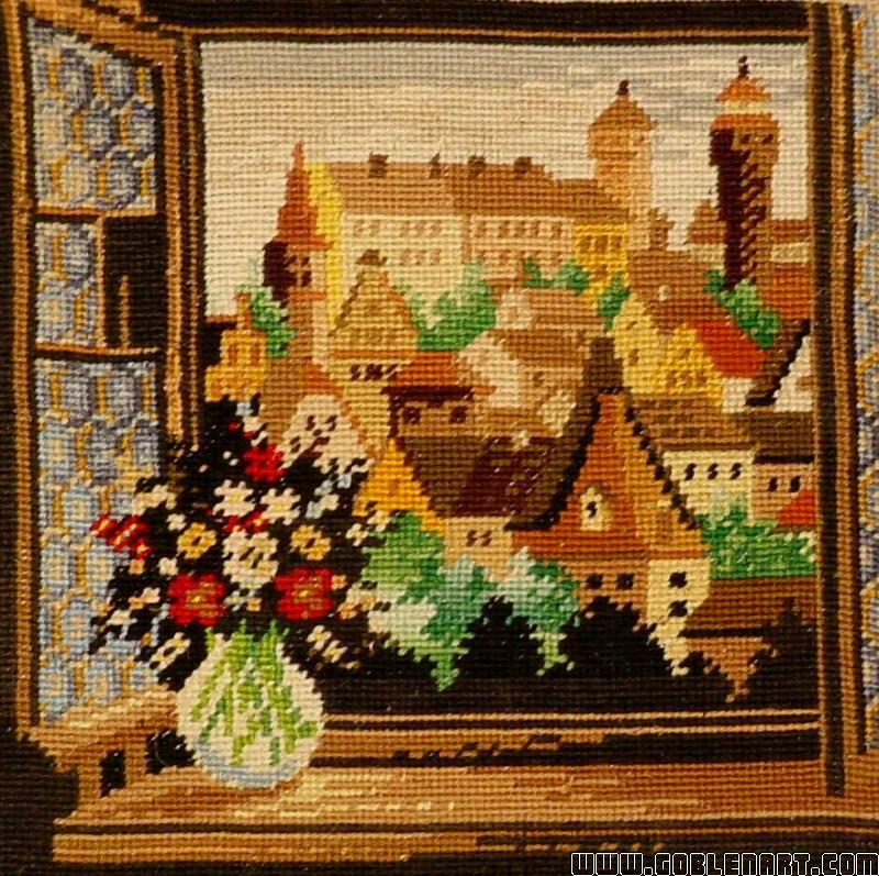The window with flowers