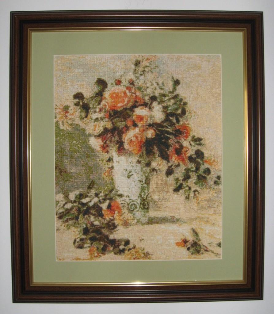 Trandafiri si iasomie intr-o vaza de Delft