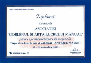 diploma participare antique market 2013