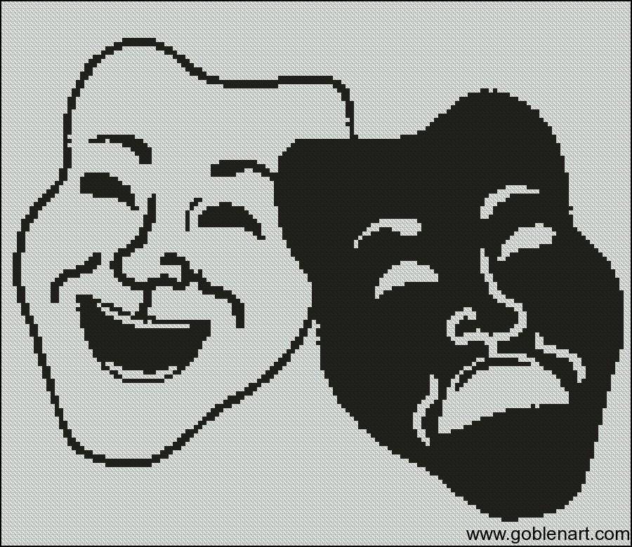 black and white masks
