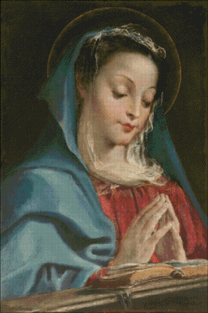 The Virgin in prayers - Annibale Carracci