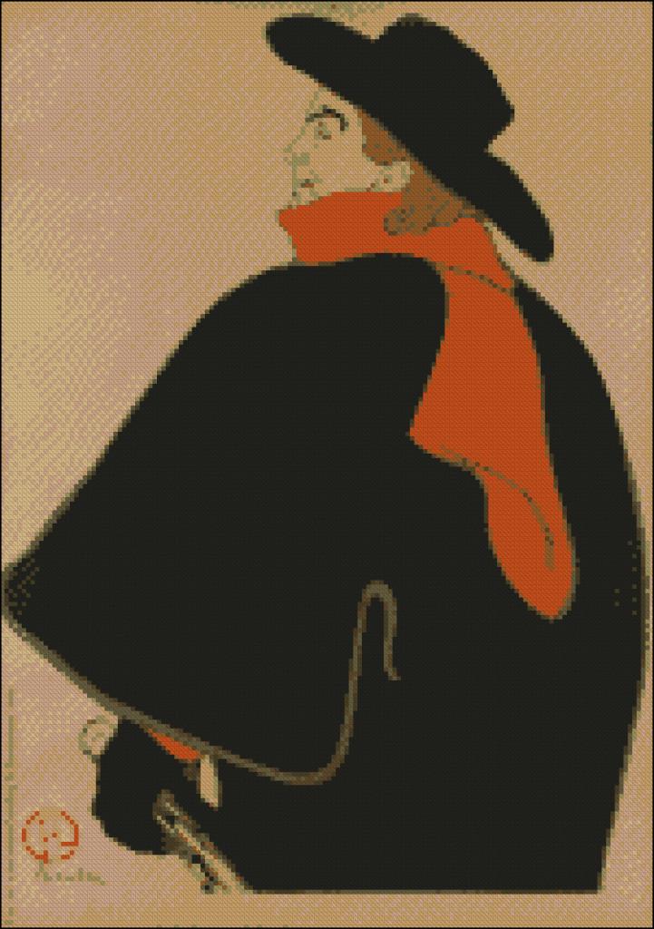 Henry de Toulouse Lautrec- Aristide Bruant