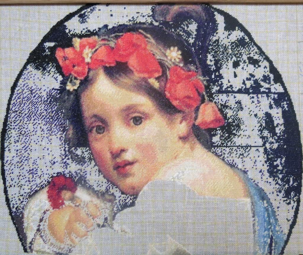 Girl Wearing a Poppy Wreath