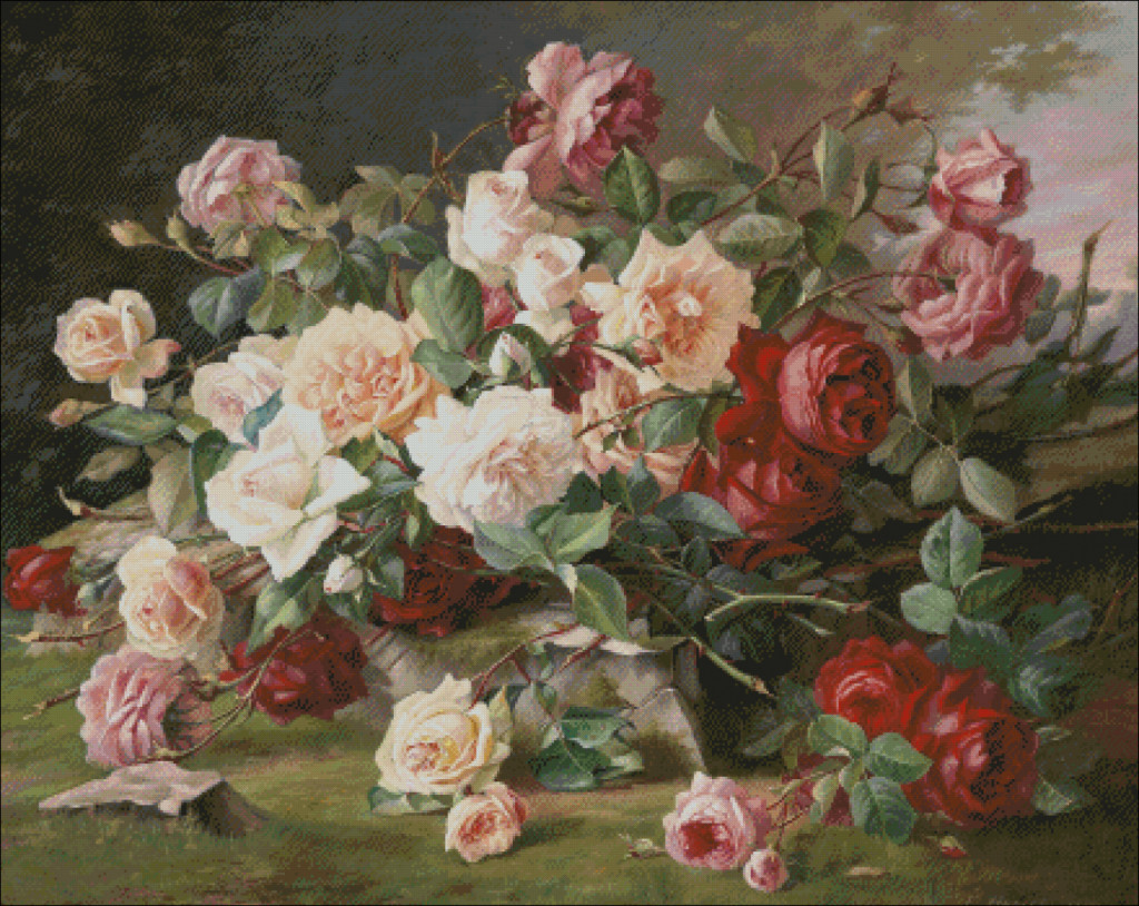 Still life with roses - Emile Hariel