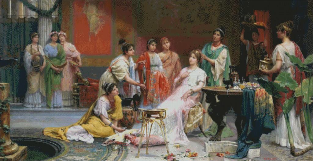 juan martin jimenez-the toilet of a roman lady
