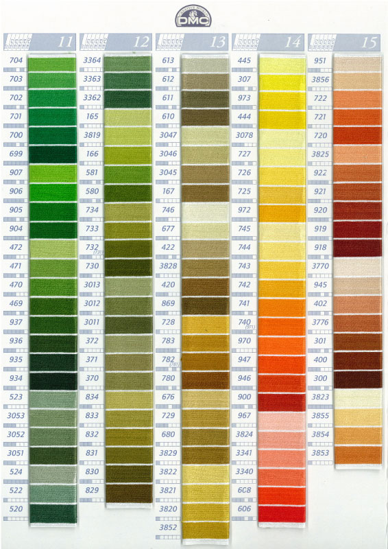 iris embroidery floss color chart: Dmc embroidery floss color chart makaroka com