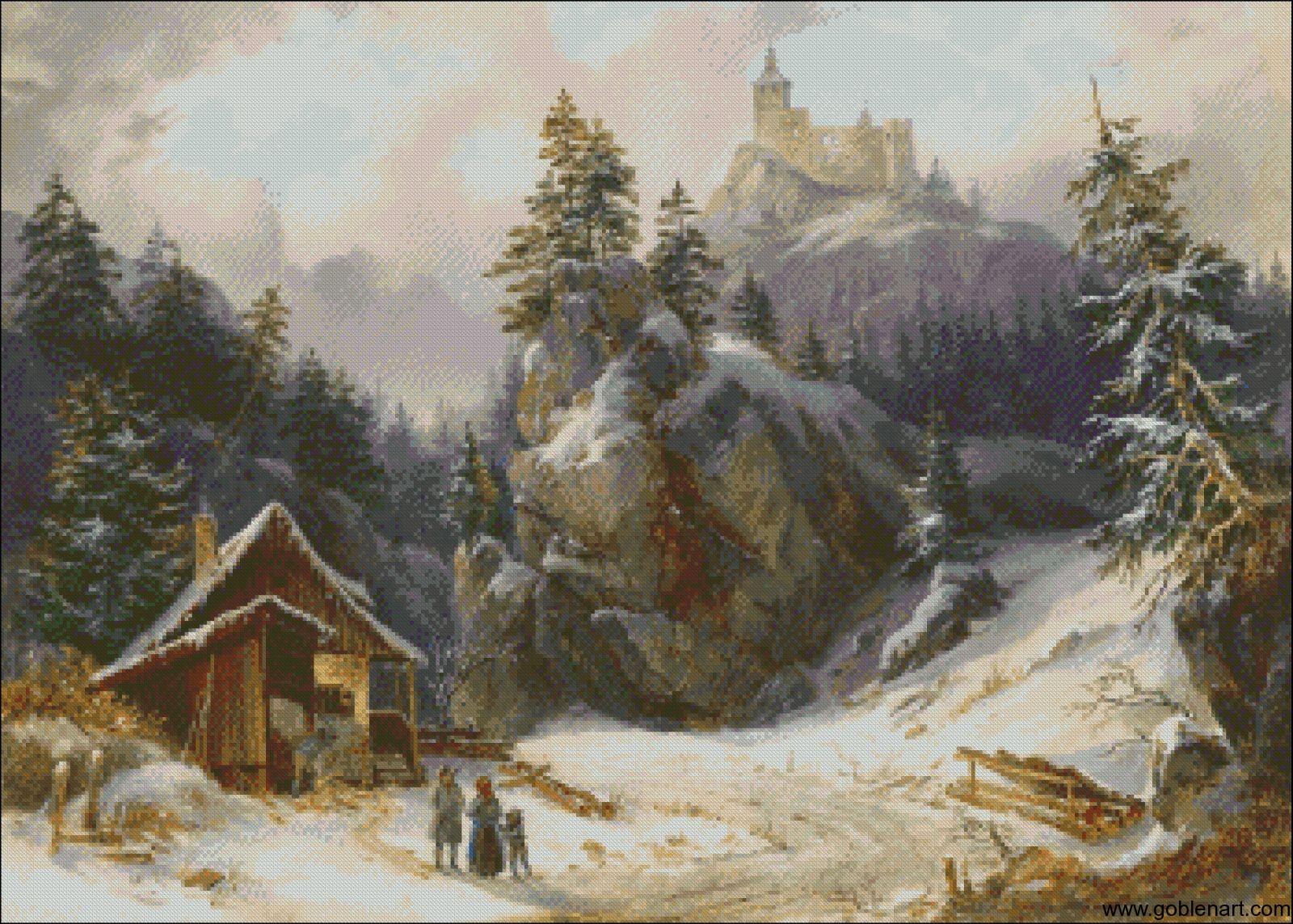 Winter landscape- Joseph Altenkopf