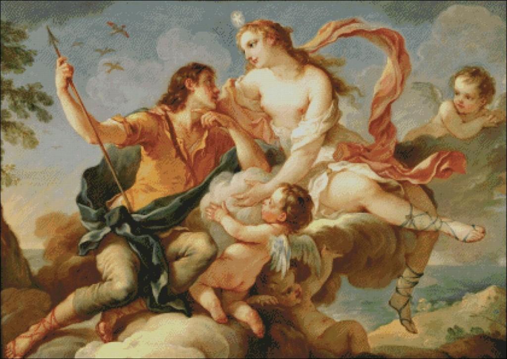Venus and Adonis-Charles-Joseph Natoire