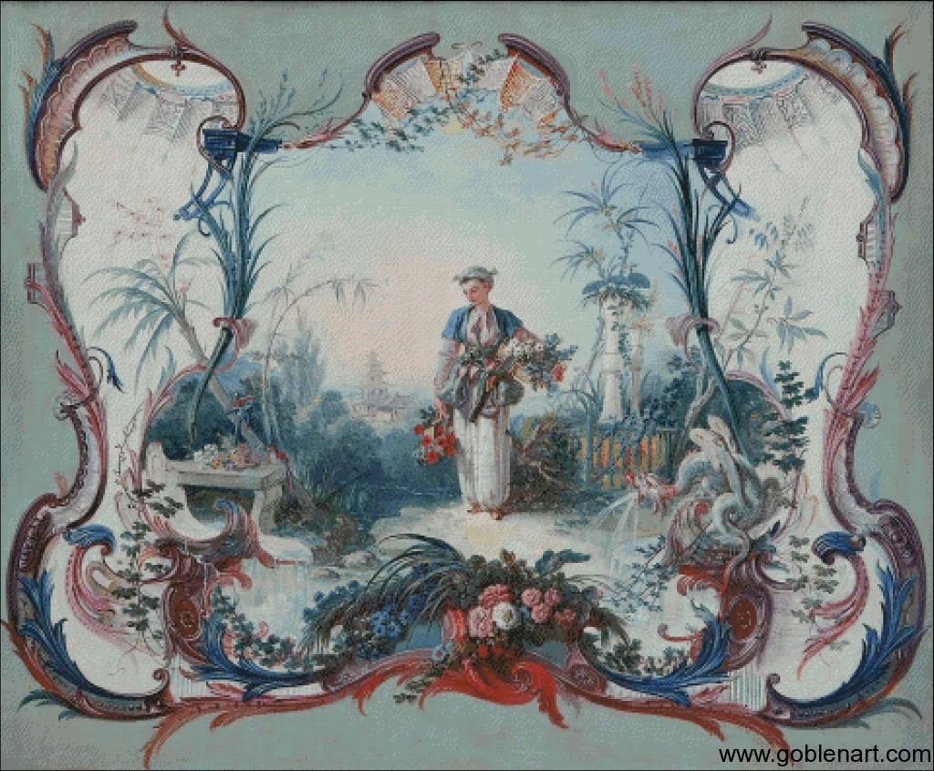 La Marchande de Fleurs - Francois Boucher