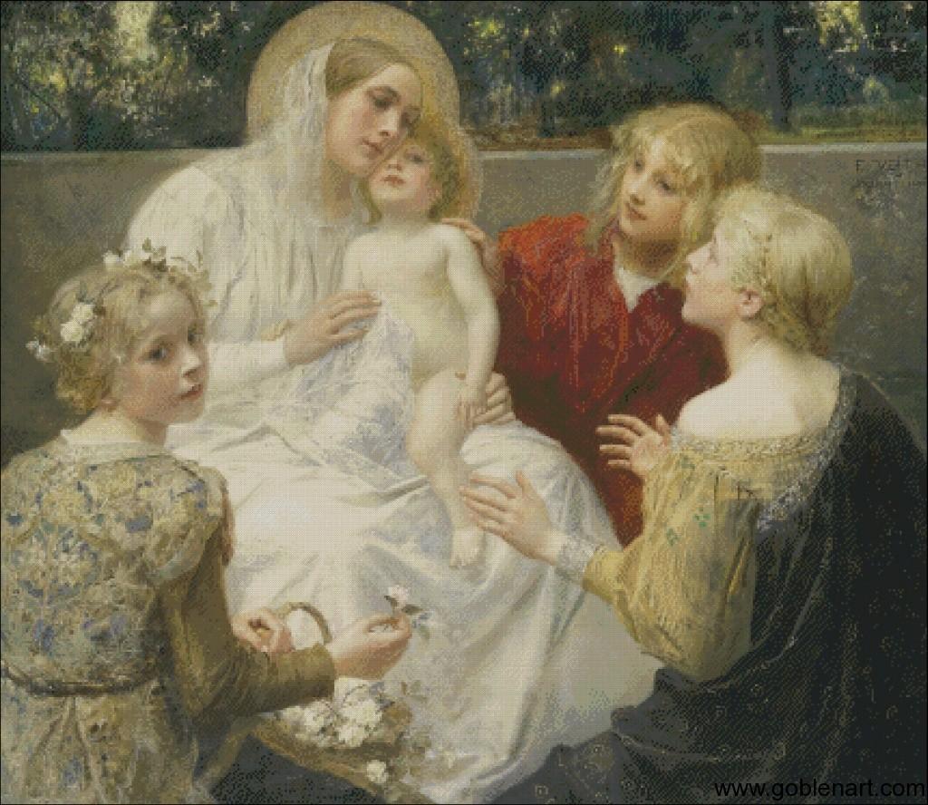 Madonna with Jesus - Eduard Veith