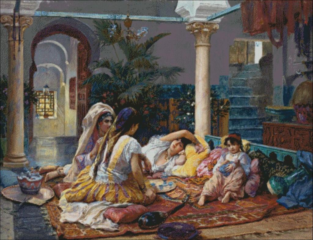 In the Harem - Frederick Athur Bridgman