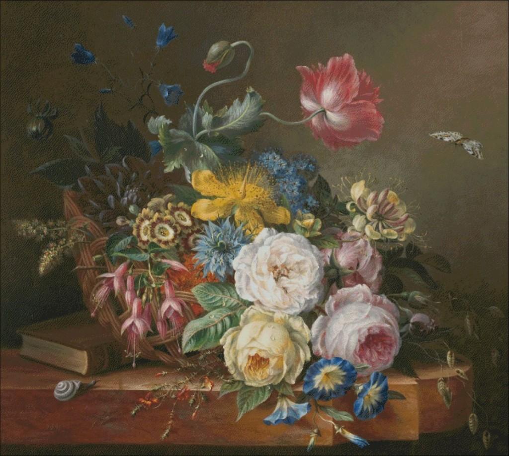 Still life with flower- Elisabeth Koning- mare-