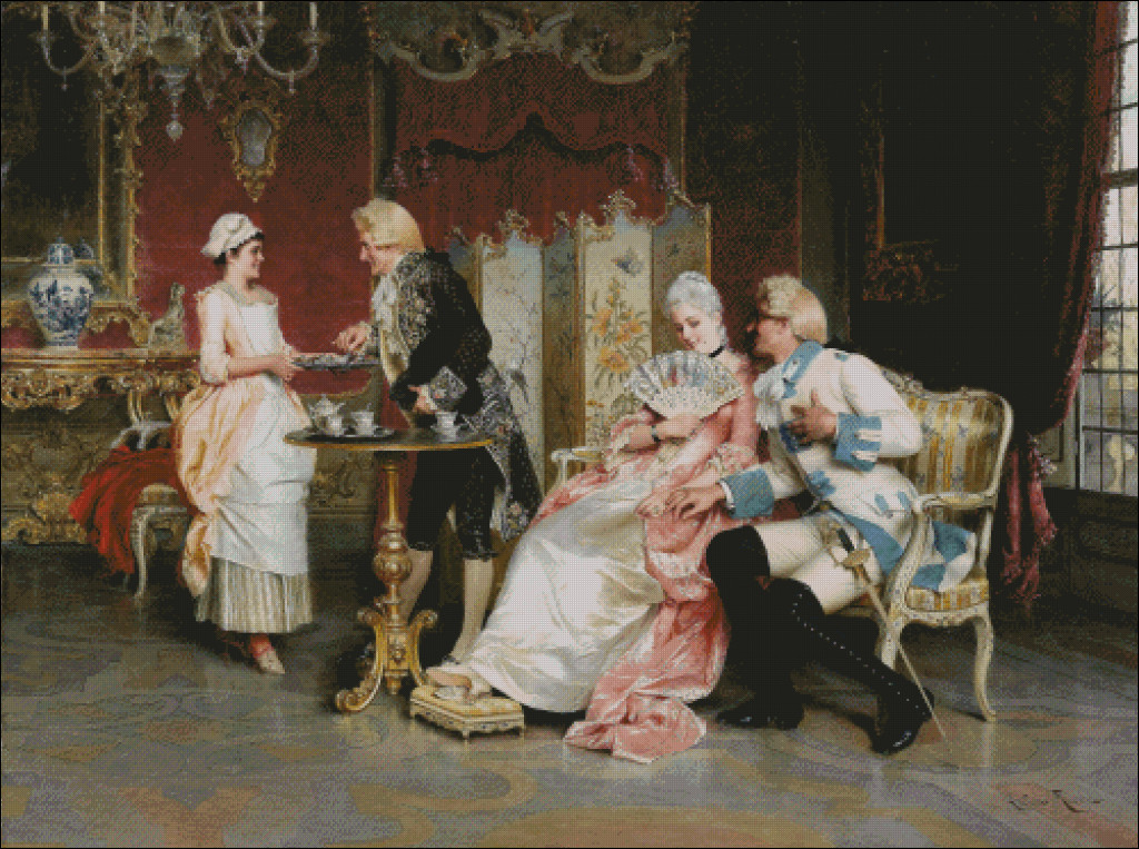 Afternoon Tea Arturo Ricci (1854 - 1919)