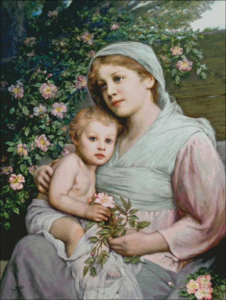 Rose Madonna - Gabriel von Max