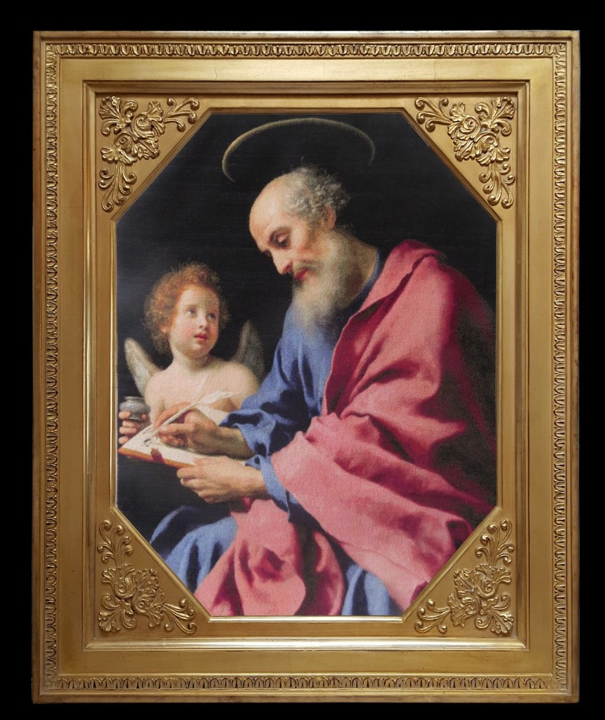 Carlo Dolci - St. Matthew Writing His Gospel - sewing period