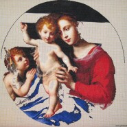 Virgin and Child with the Infant Saint John the Baptist – sewing period