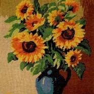 A sun flower pot
