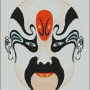 Chinese mask – begginer – free patterns, free charts / diagrame gratuite, scheme goblen gratis, modele goblenuri gratis