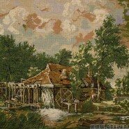 Dutch water mill