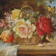 Floral still life – intermediate – free patterns, free charts / diagrame gratuite, scheme goblen gratis, modele goblenuri gratis