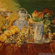 Fruit still life with a silver beaker