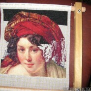 Head of a woman in a turban – sewing period