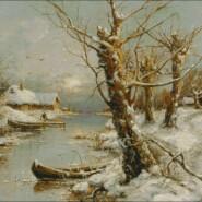 Winter landscape – intermediate – free patterns, free charts / diagrame gratuite, scheme goblen gratis, modele goblenuri gratis