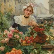 The flower seller – advanced – free patterns, free charts / diagrame gratuite, scheme goblen gratis, modele goblenuri gratis