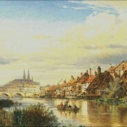 View over the Danube to Regensburg – advanced – free patterns, free charts / diagrame gratuite, scheme goblen gratis, modele goblenuri gratis