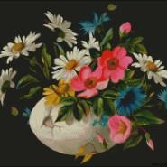 Wildflowers – intermediate – free patterns, free charts / diagrame gratuite, scheme goblen gratis, modele goblenuri gratis