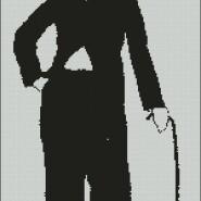 Charlie Chaplin – begginer – free patterns, free charts / diagrame gratuite, scheme goblen gratis, modele goblenuri gratis