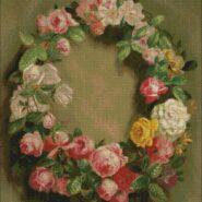 Crown of roses – begginer – free patterns, free charts / diagrame gratuite, scheme goblen gratis, modele goblenuri gratis