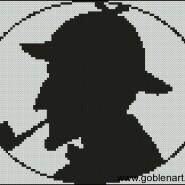 Sherlock Holmes – begginer – free patterns, free charts / diagrame gratuite, scheme goblen gratis, modele goblenuri gratis